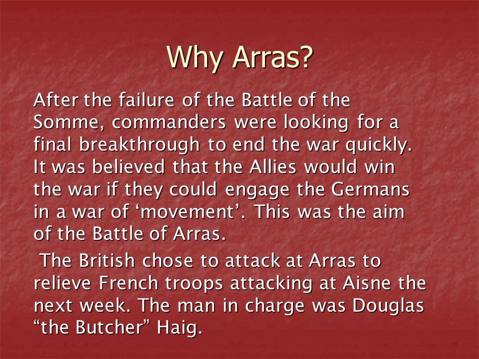 Why Arras.