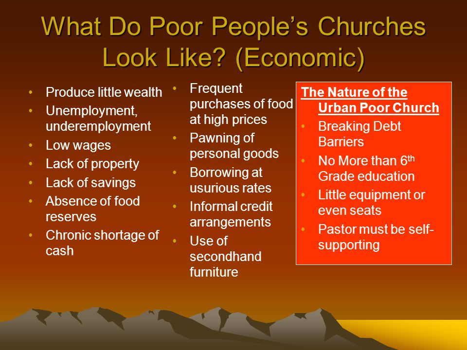 What Do Poor People's Churches Look Like.