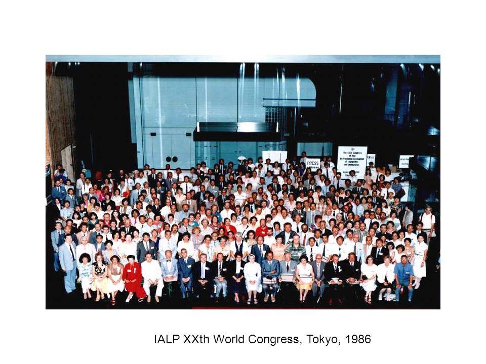 IALP XXth World Congress, Tokyo, 1986