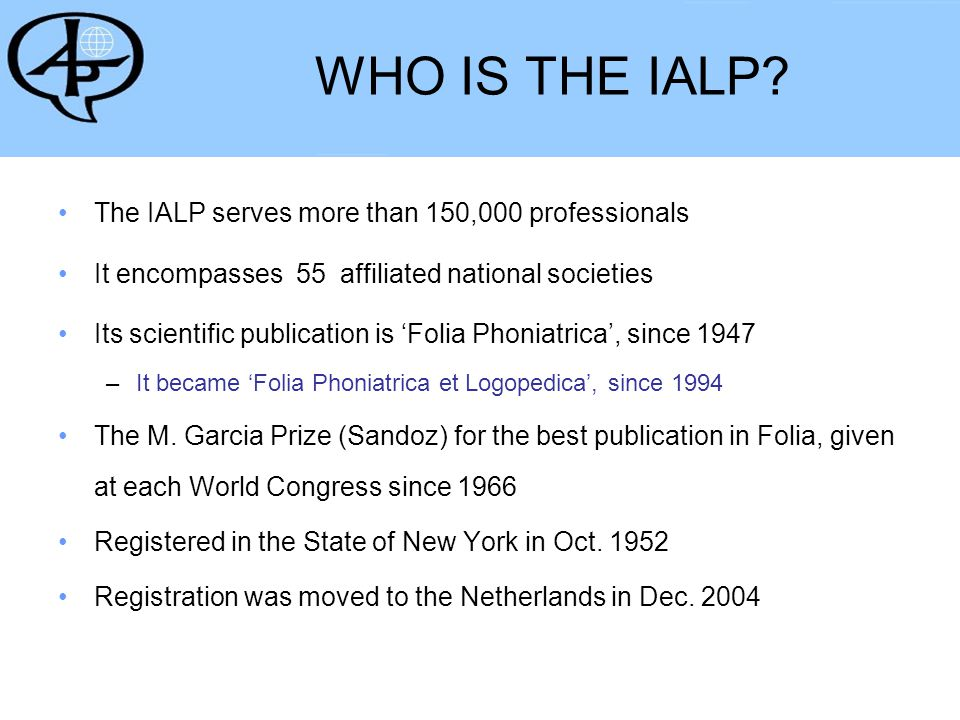 How is the IALP governed.