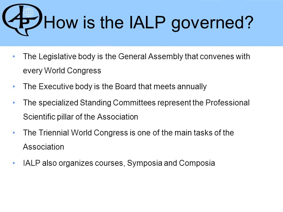The IALP is important in a world where profession practice and research know no boundaries.