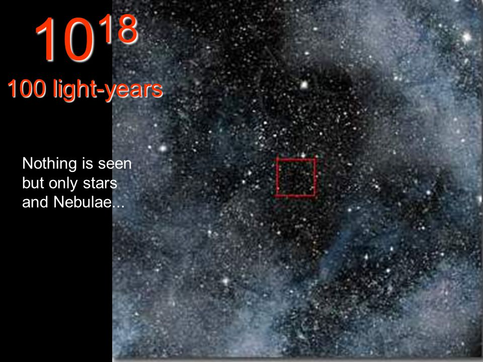 Here we see nothing in the infinity... 10 17 10 light-year