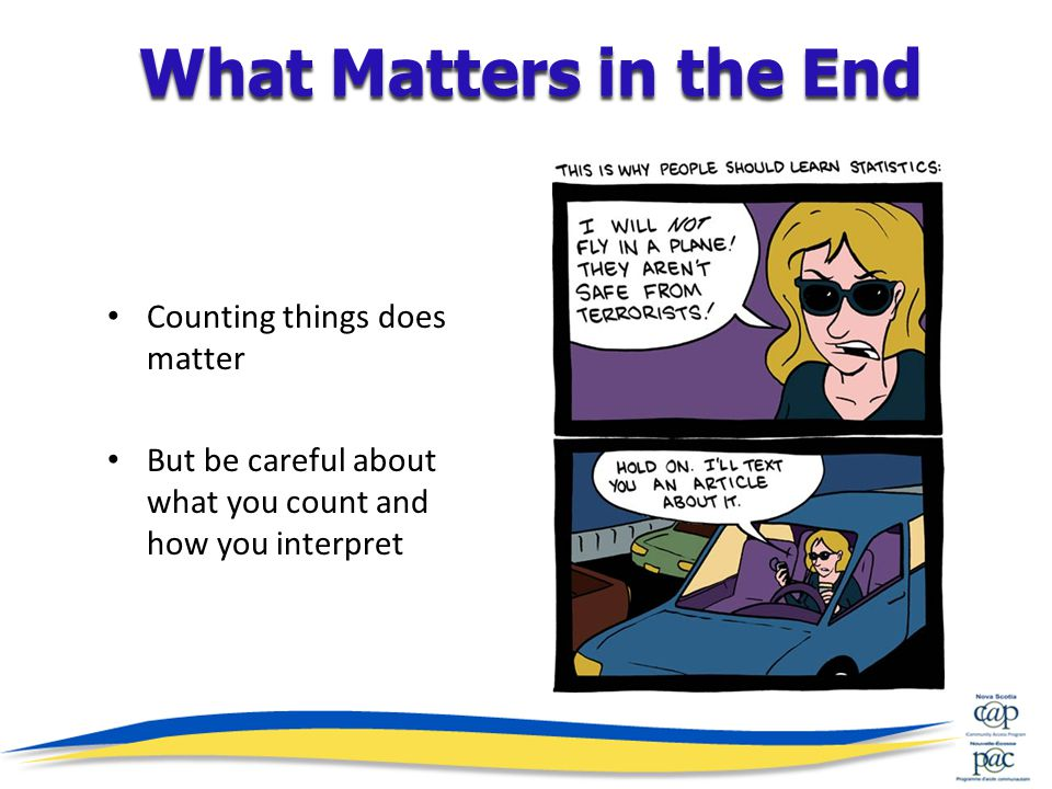 Counting things does matter But be careful about what you count and how you interpret What Matters in the End