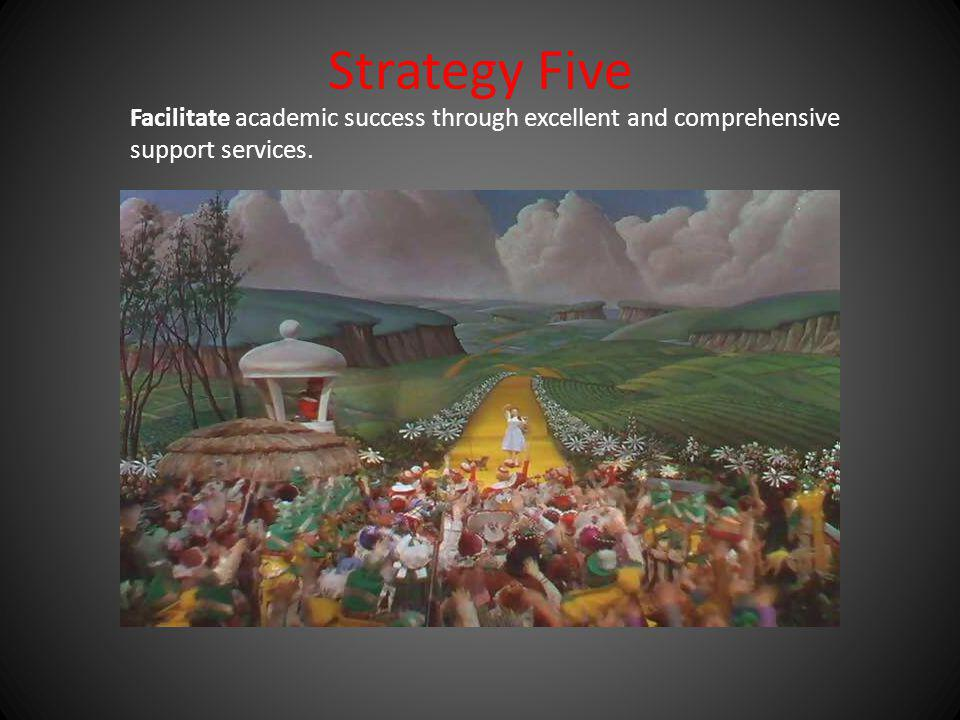 Strategy Five Facilitate academic success through excellent and comprehensive support services.