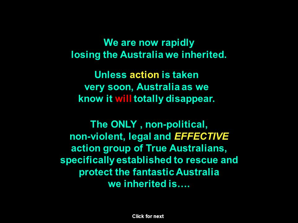 Remember This project is NOT 'anti-Islam.' It is FOR protecting Australian society against attacks from many directions on our cultural values and our democratic freedoms.
