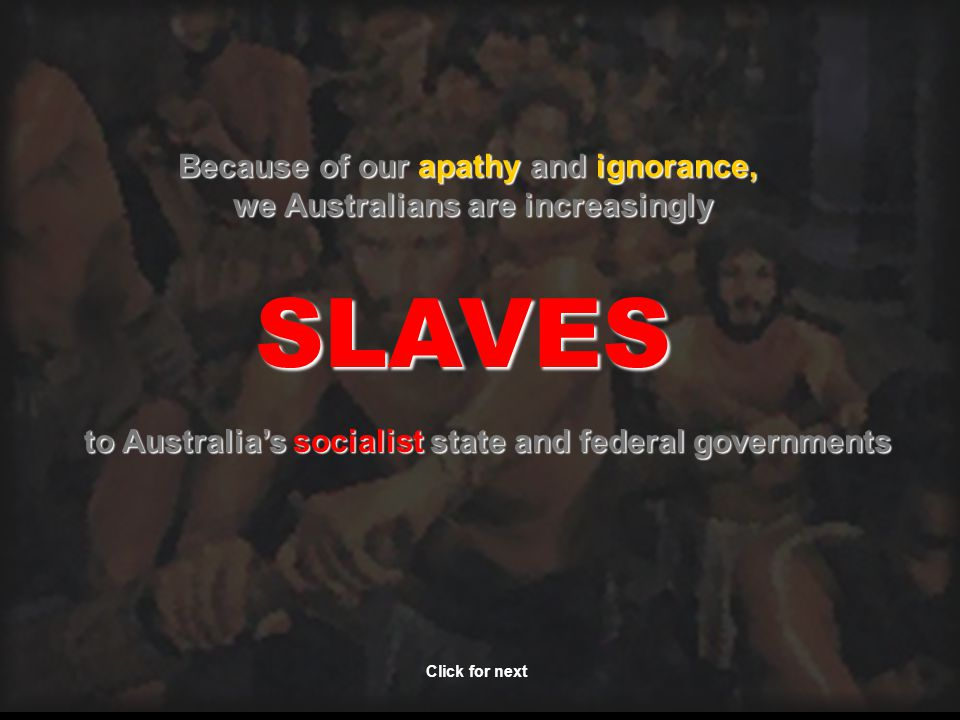 Therefore….For Australia's sake, please onforward this everywhere possible..….