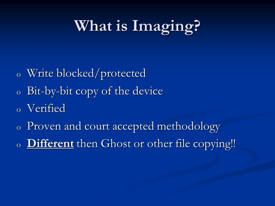 What is Imaging.