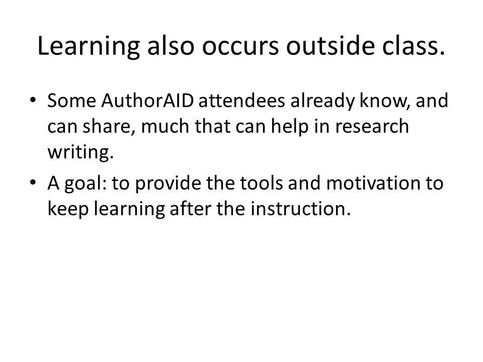 Especially for adults, good learning situations tend to have 4 characteristics.