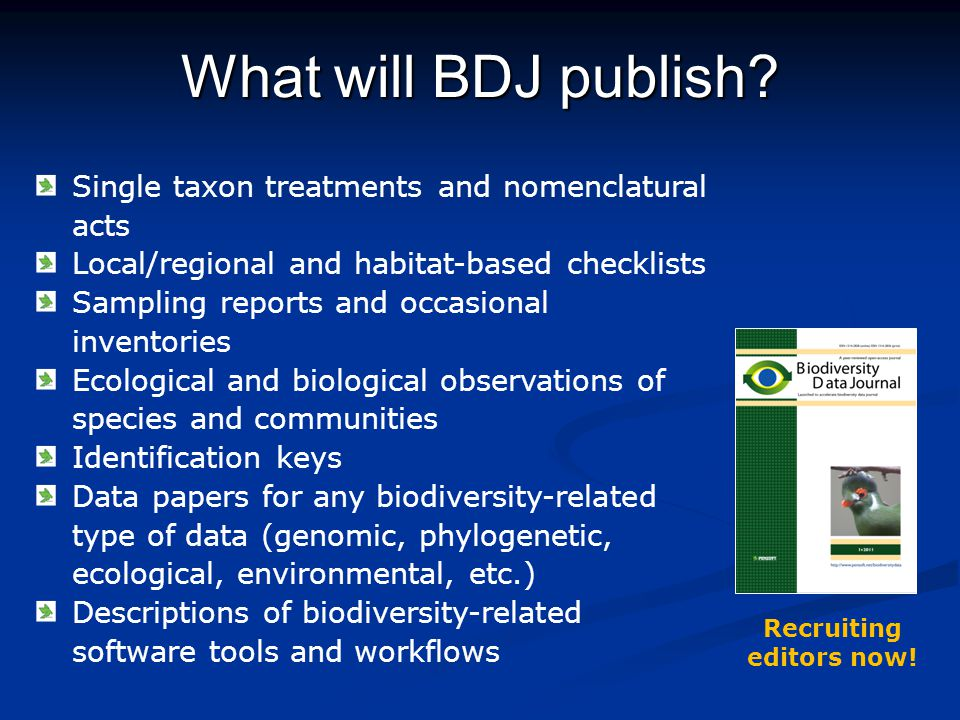 What will BDJ publish.