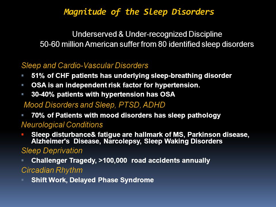 Types of Sleep Studies Home Sleep Testing ( HST) Type 1 – Attended in-lab polysomnography Type 2 – Comprehensive portable polysomnography – Minimum of 7 channels including EEG, EOG, chin EMG, ECG/HR, airflow, respiratory effort and O2 saturation HST: Type 3 – Modified portable sleep apnea testing – Minimum of 4 channels including ECG/HR, O2 saturation and at least 2 channels of respiratory movement or respiratory movement and airflow Type 4 – Continuous single or dual bioparameters – For example, airflow and/or O2 saturation