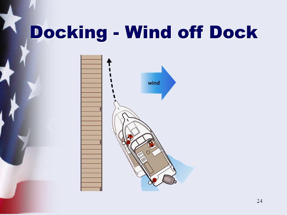 24 Docking - Wind off Dock
