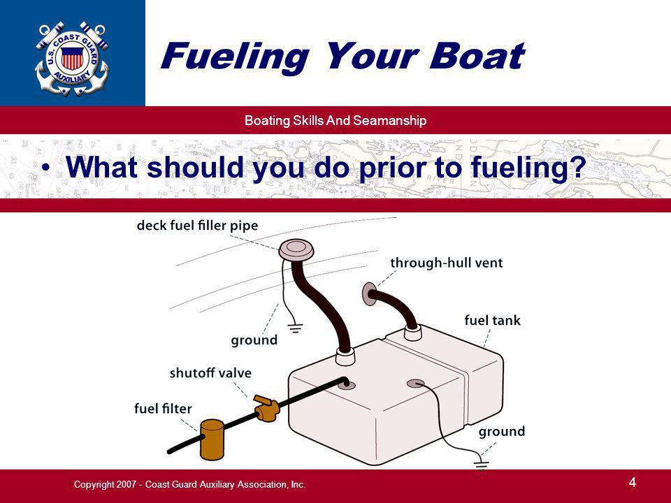 Boating Skills And Seamanship 5 Copyright 2007 - Coast Guard Auxiliary Association, Inc.