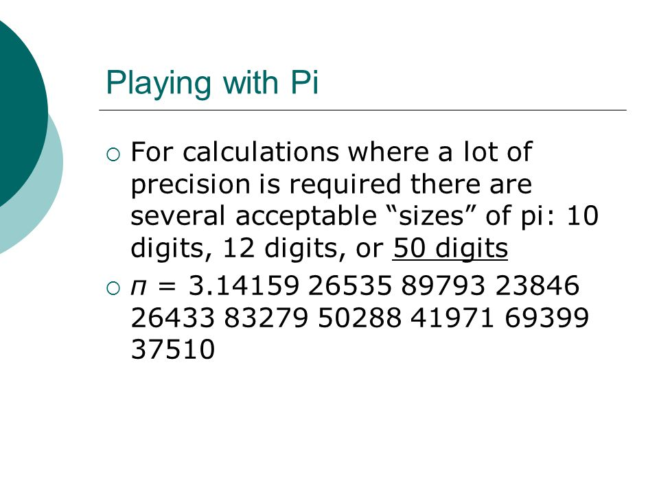 Pi Records:  Guinness Book of Records for Reciting Remembered Digits of Pi Without Error: 67,890 digits, by a 24-year-old graduate student from China.