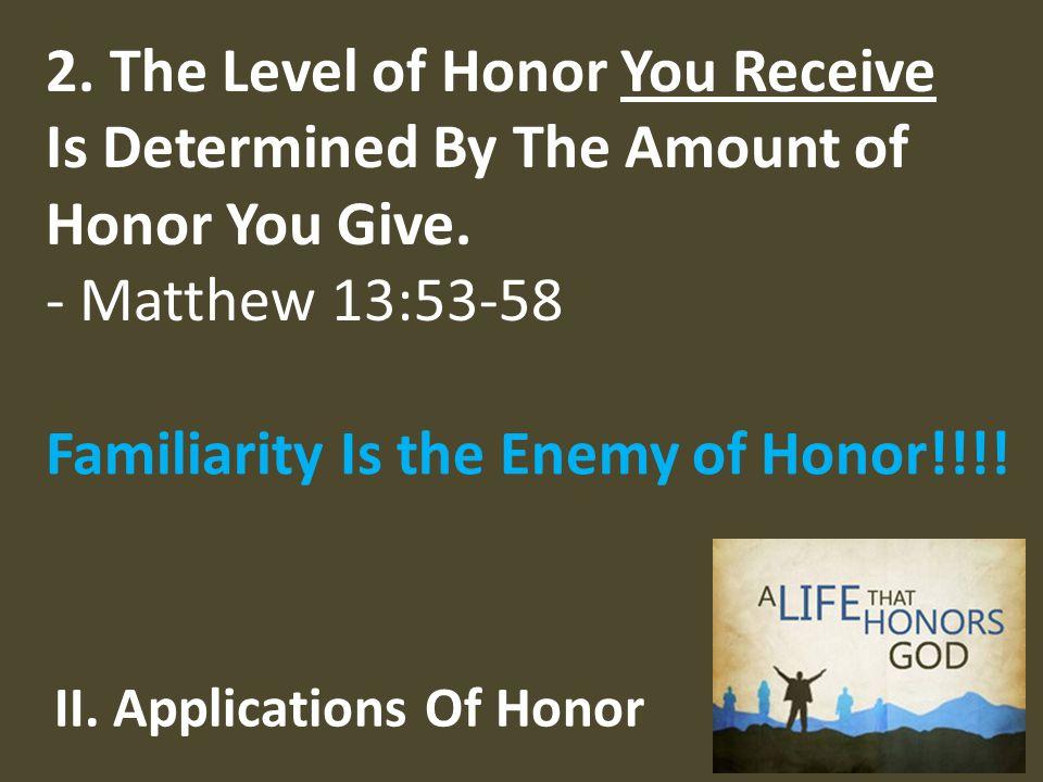 II. Applications Of Honor 2.