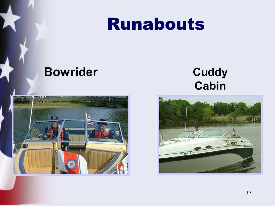 13 Runabouts Bowrider Cuddy Cabin
