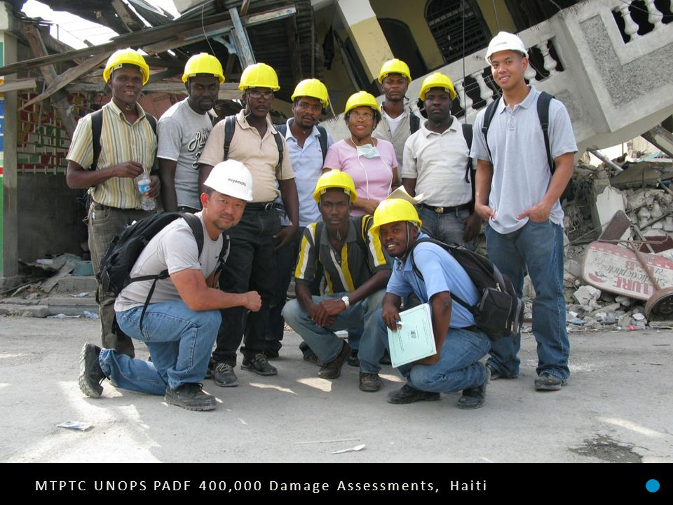 MTPTC UNOPS PADF 400,000 Damage Assessments, Haiti