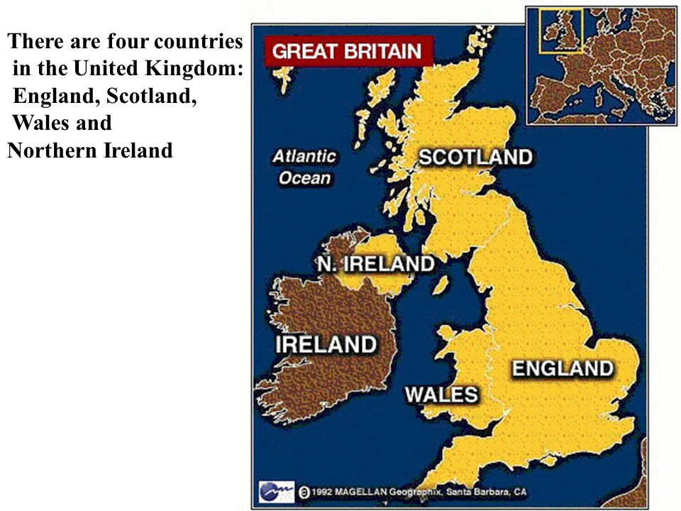 There are four countries in the United Kingdom: England, Scotland, Wales and Northern Ireland