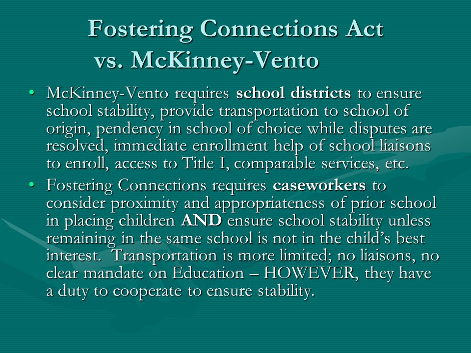 Educational Stability/School Travel Reimbursement Child's case plan must include provisions to assure educational stability while in foster care.Child's case plan must include provisions to assure educational stability while in foster care.