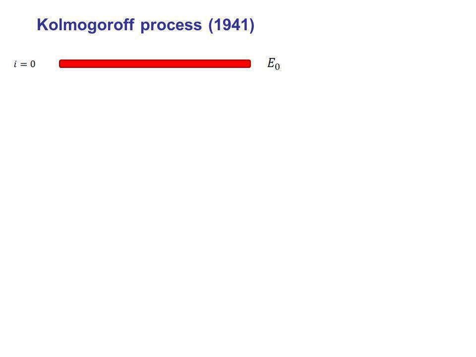 Kolmogoroff process (1941)
