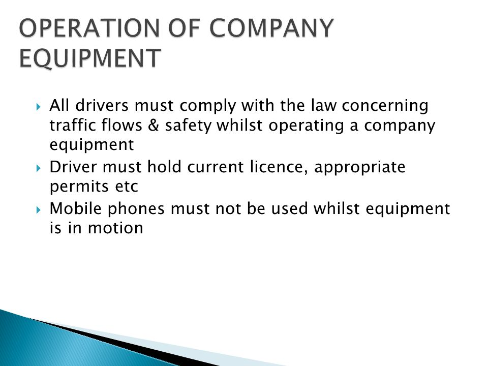  Forklift Operators must:  Hold an appropriate license, permit or certificate  Undertake the pre-operational checks before use  Maintain a pedestr
