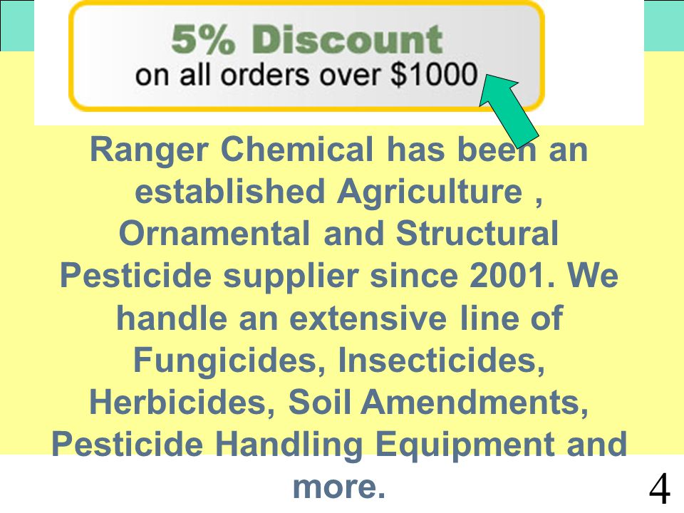 4 Ranger Chemical has been an established Agriculture, Ornamental and Structural Pesticide supplier since 2001.