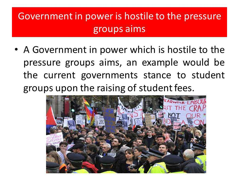 Hostile public opinion can restrict pressure group power Hostile public opinion can restrict pressure group power, Muslim groups who sought to protest at the Afghan War at Wotton Basset met with widespread public hostility.