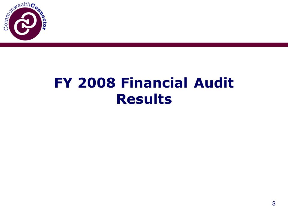 8 FY 2008 Financial Audit Results