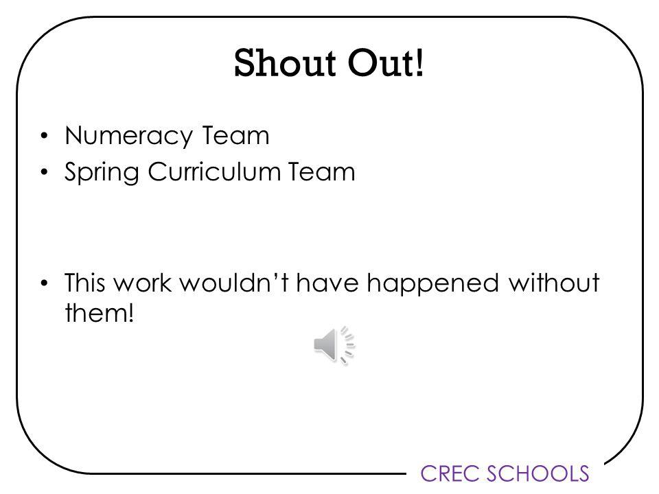 CREC SCHOOLS Shout Out.