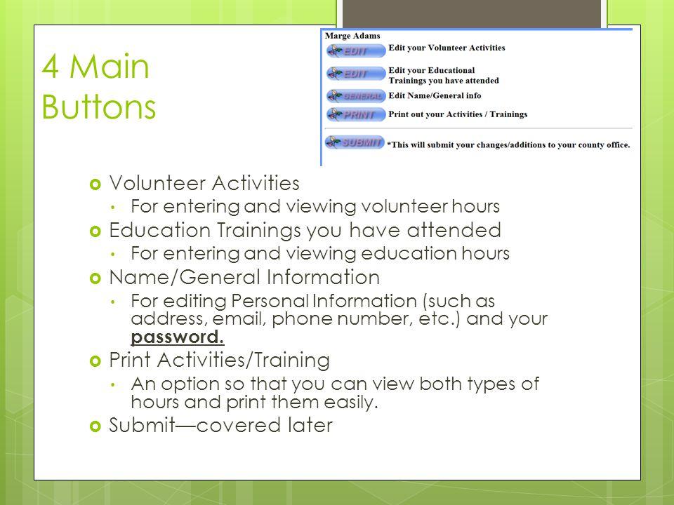 Add Volunteer Activity  Activity has a drop down menu.