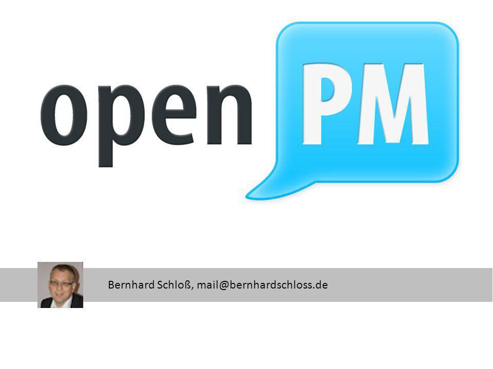 openPM Bernhard Schloß, mail@bernhardschloss.de