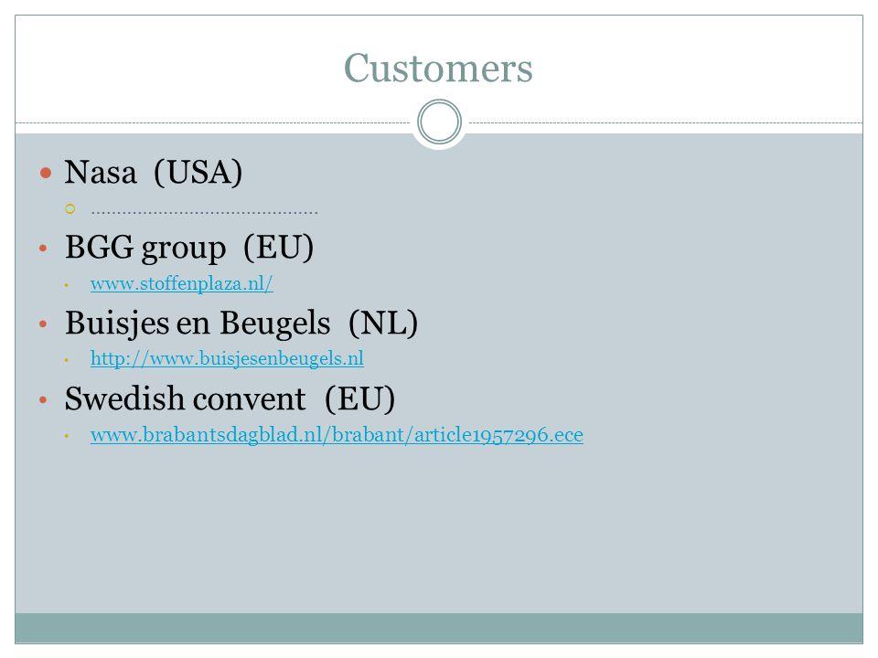 Customers Nasa (USA)  ……………………………………..