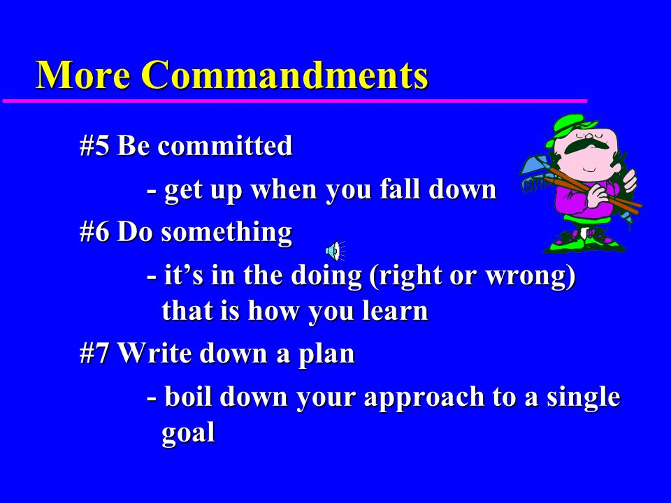 J. S's 10 Commandments of Succeeding on the Farm J.