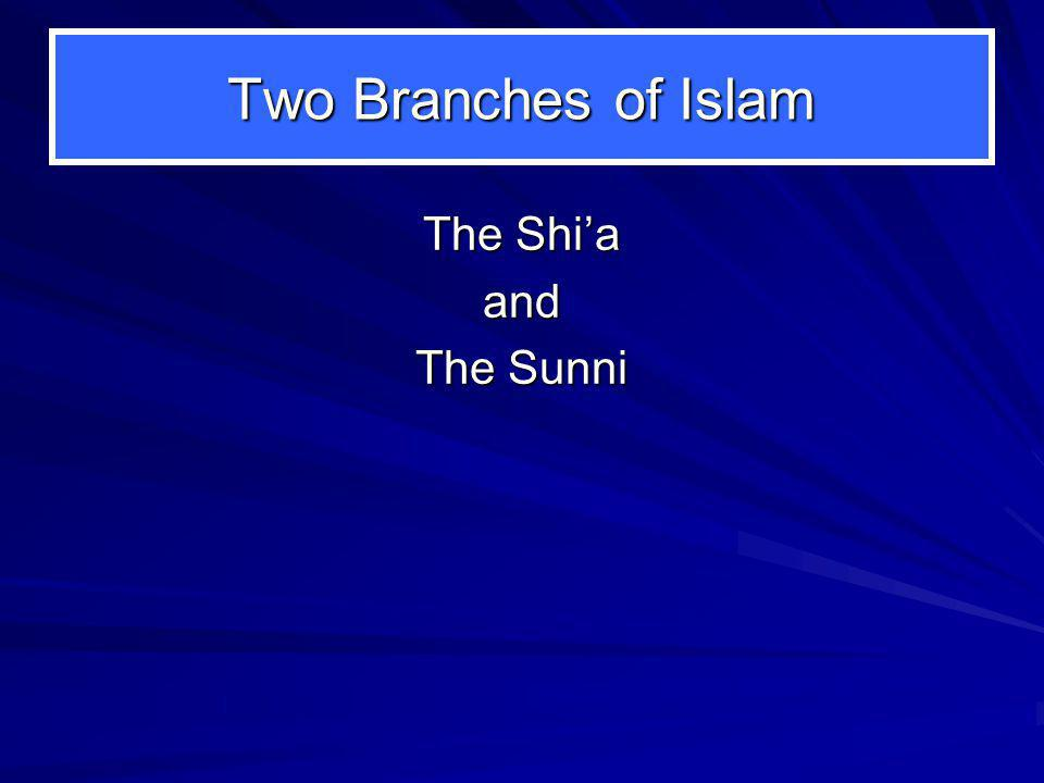 Two Branches of Islam The Shi'a and The Sunni
