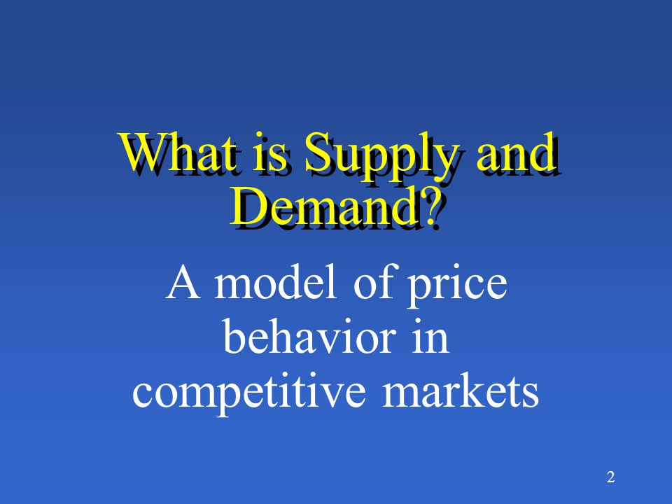 1 Principles of Economics by Fred M Gottheil Chap. 3 SUPPLY AND DEMAND