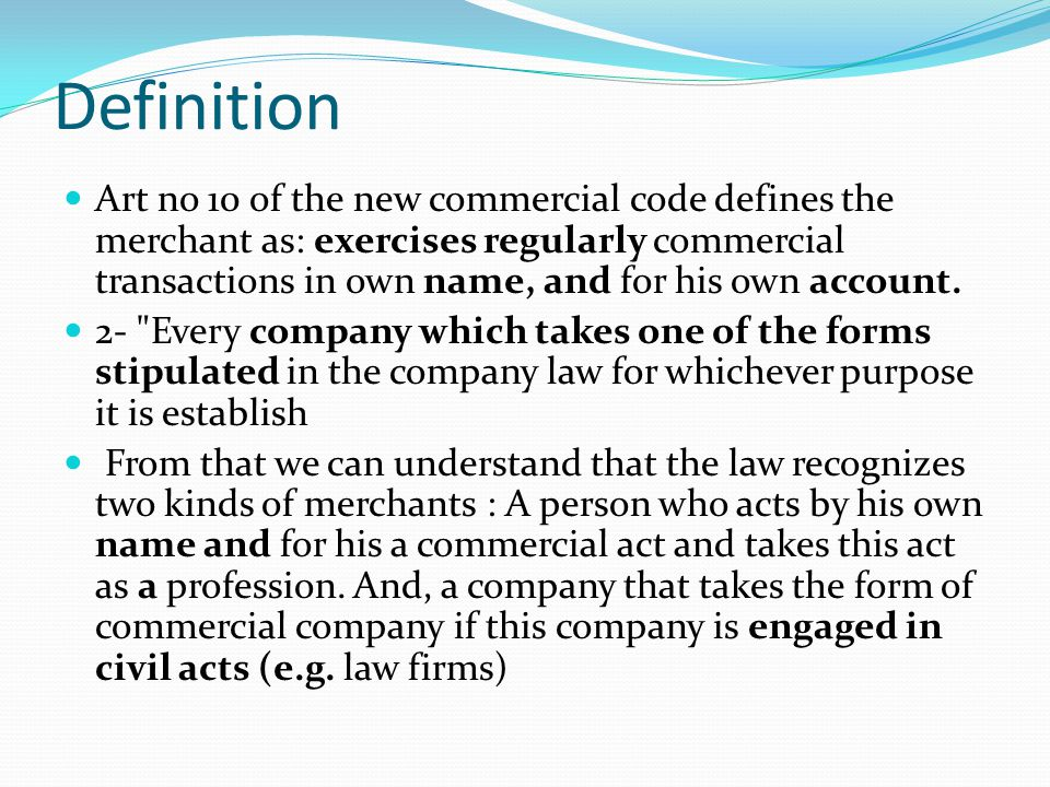 Professionalism=Regular basis That is to say a merchant is one who operates at least one of the acts presented by law to be commercial in nature such as buying for the purpose to sell or lease, etc.