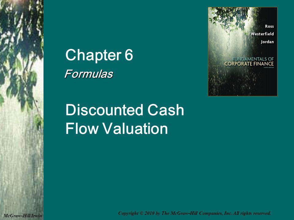 Growing Perpetuity A growing stream of cash flows that lasts forever 6F-42