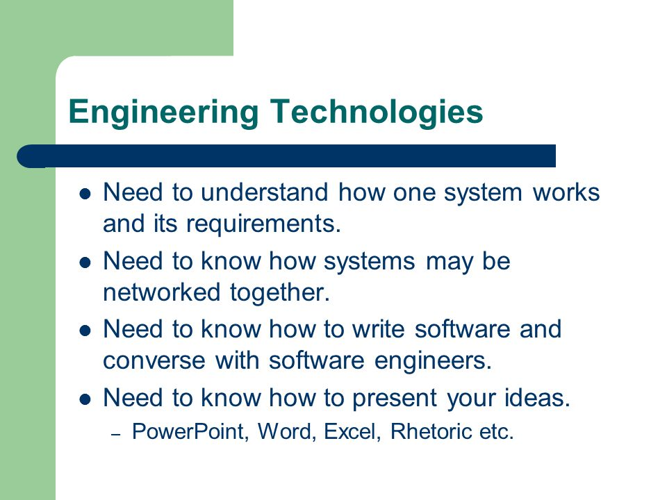 Network Engineering involves: Problem solving.Subject knowledge.