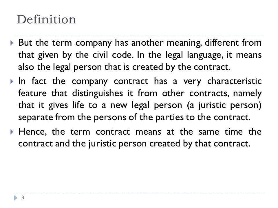 4 The General theory Elements of company contract The nullity moral personality DissolutionLiquidation