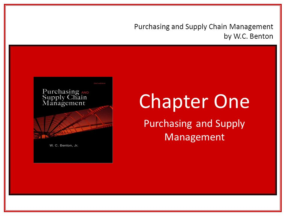 Learning Objectives 1.To understand the purchasing function's contribution to profitability.