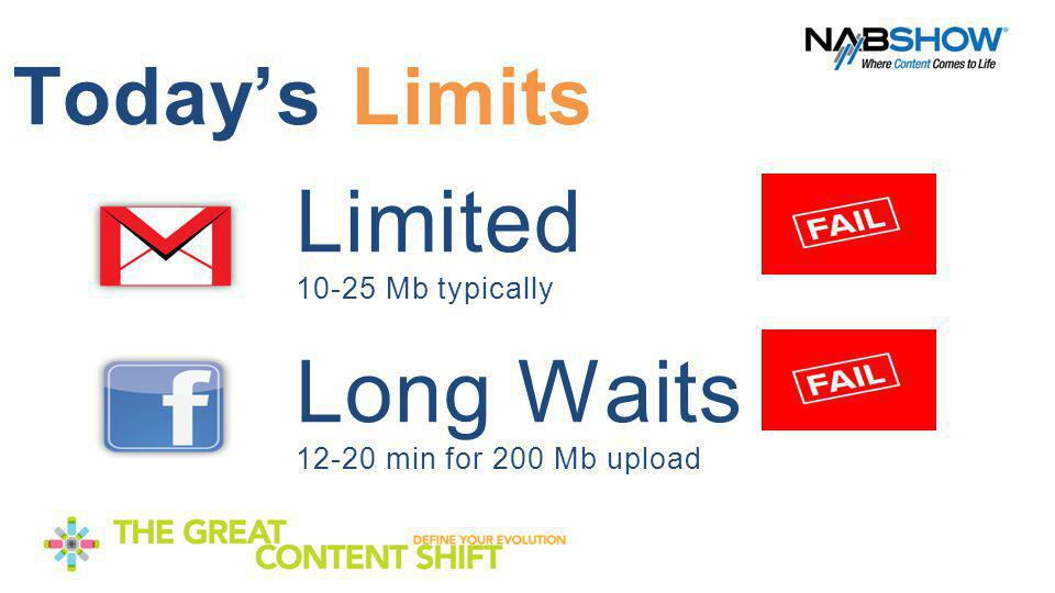 Today's Limits Limited 10-25 Mb typically Long Waits 12-20 min for 200 Mb upload Copyright 2012 Scayl