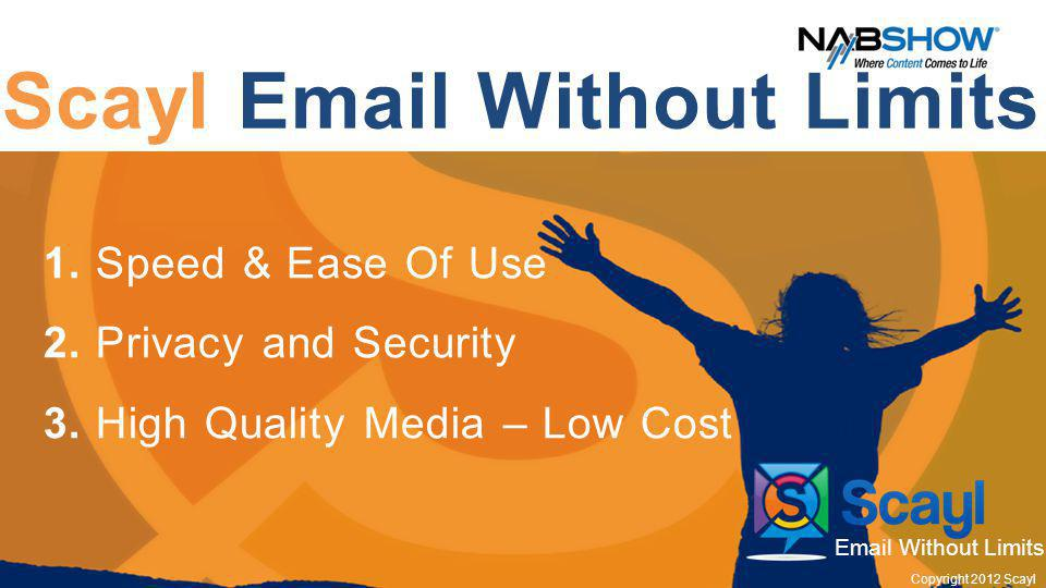 Scayl Email Without Limits 1. Speed & Ease Of Use 2.