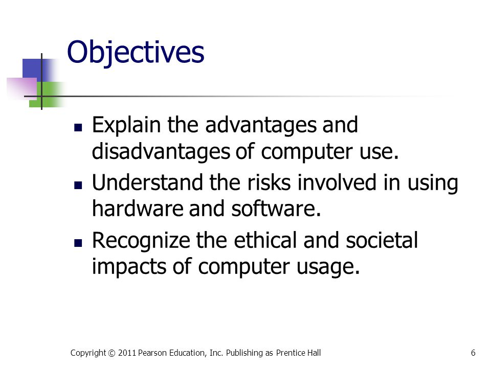 Objectives Discuss how computers affect employment.