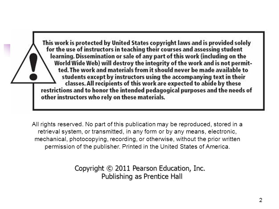 Copyright © 2011 Pearson Education, Inc. Publishing as Prentice Hall33 What's on the Motherboard?