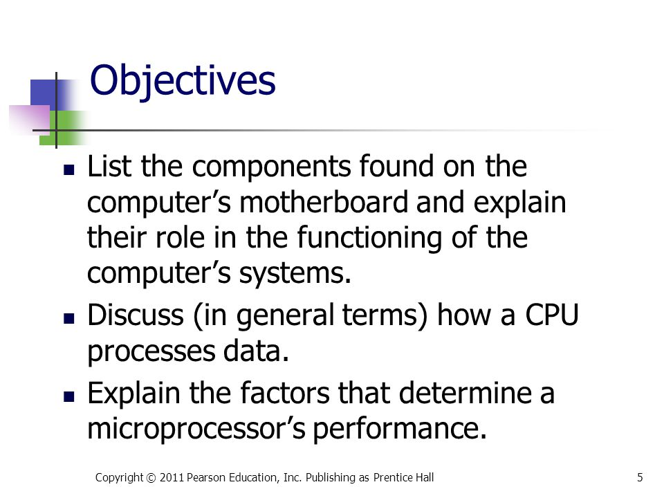 Factors that influence the performance of the CPU include the data bus width, clock speed, pipelining, and parallel processing.