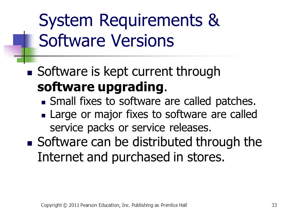 System Requirements & Software Versions Software is kept current through software upgrading.