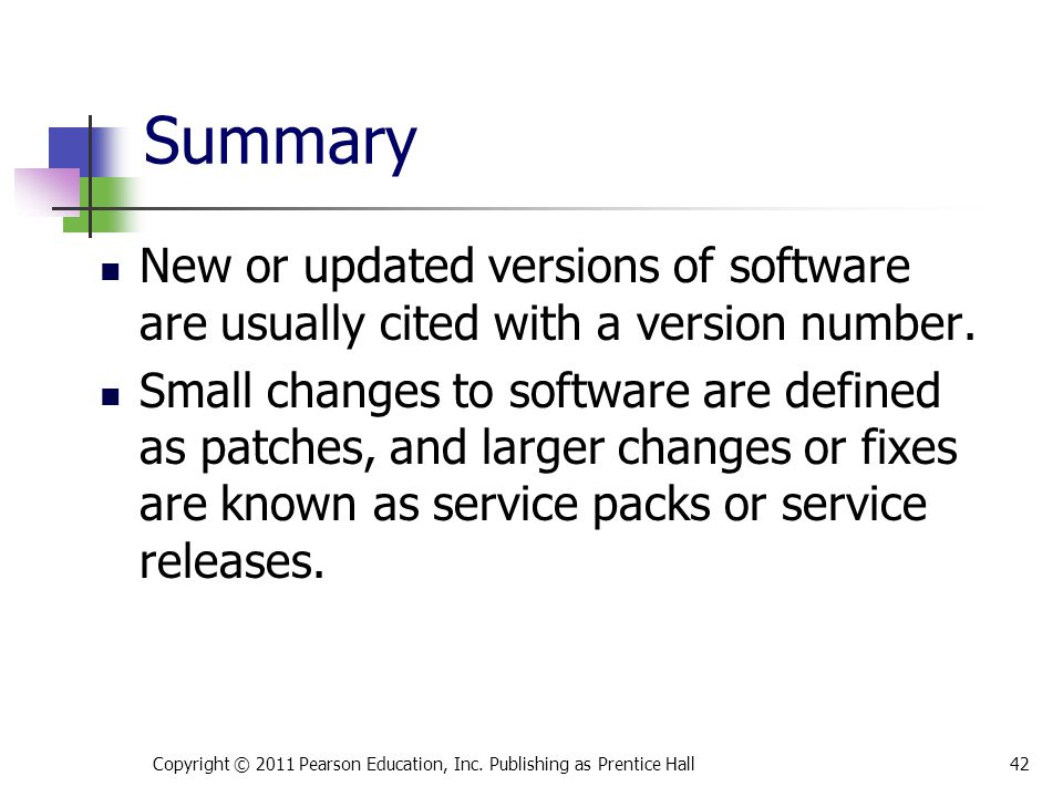 New or updated versions of software are usually cited with a version number.