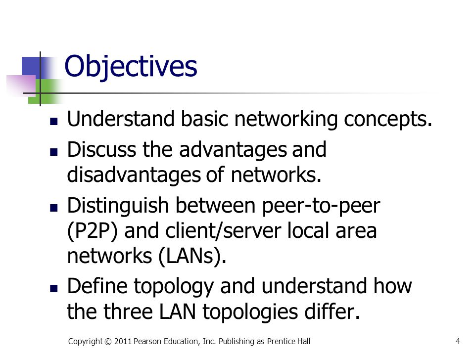 Objectives Explain the importance of network protocols.