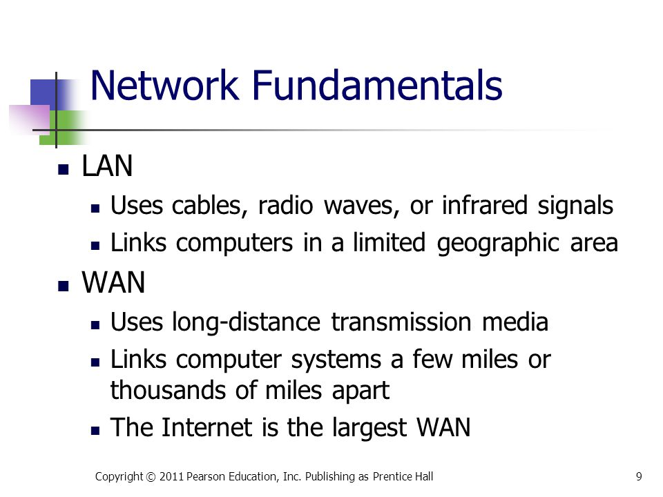 LAN topologies Network topology is the physical design of a LAN.