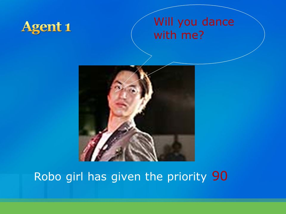 Will you dance with me? Robo girl has given the priority 90