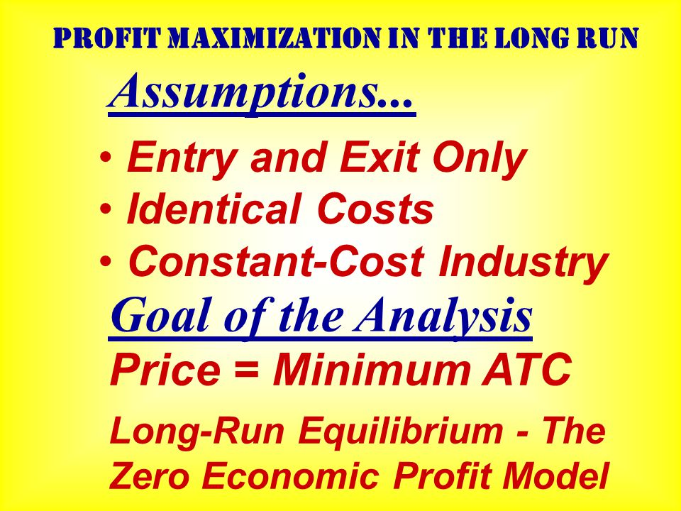 P Q S=MC AVC ATC 8 D P Q 8000 D S=  MC's Industry Firm (price taker) Economic Profit $111 SHORT-RUN COMPETITIVE EQUILIBRIUM The Competitive Firm Takes its Price from the Industry Equilibrium How about the long-run?